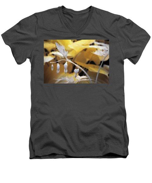 Bleeding Heart Gld Men's V-Neck T-Shirt by Paul Seymour