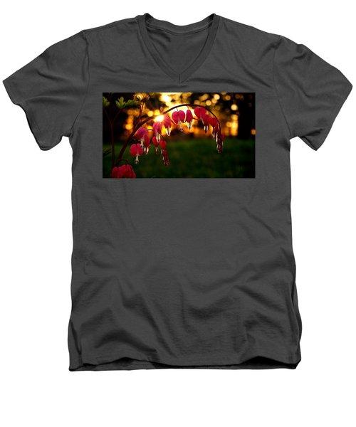 Bleeding Heart Sunset Men's V-Neck T-Shirt