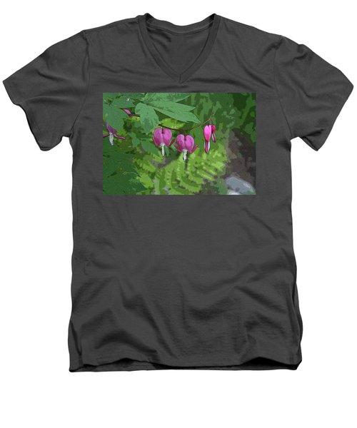 Bleeding Hearts 2 Men's V-Neck T-Shirt