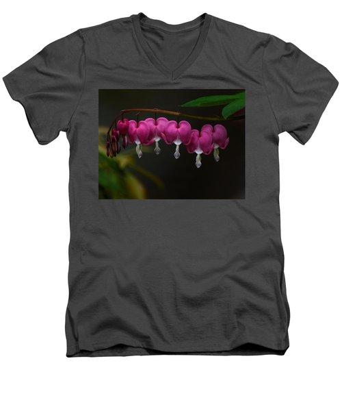 Bleeding Hearts Men's V-Neck T-Shirt by Keith Boone