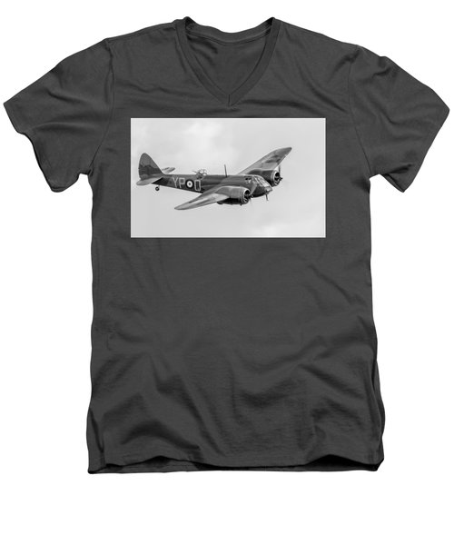 Blenheim Mk I Black And White Version Men's V-Neck T-Shirt