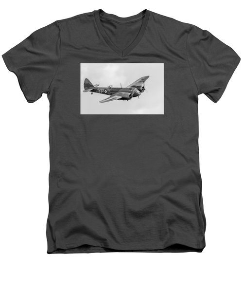 Blenheim Mk I Black And White Version Men's V-Neck T-Shirt