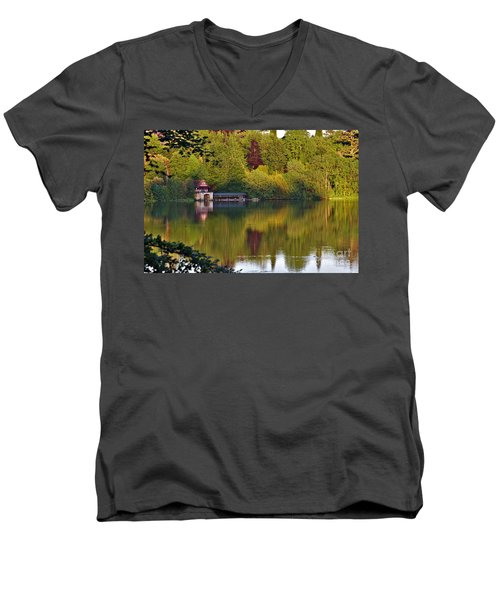 Blenheim Palace Boathouse 2 Men's V-Neck T-Shirt