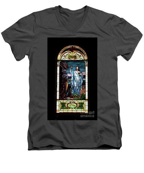 Blessed By Jesus Men's V-Neck T-Shirt