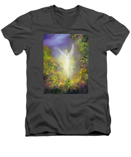 Blessing Angel Men's V-Neck T-Shirt by Marina Petro