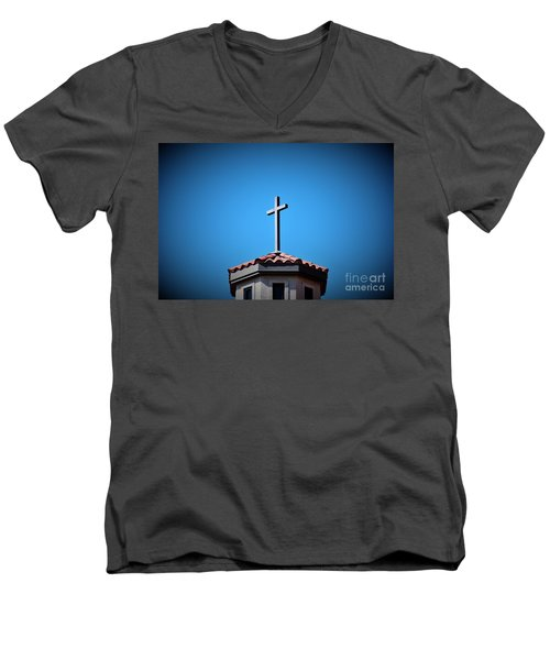 Men's V-Neck T-Shirt featuring the photograph Blessings To Everyone Of All Faiths by Ray Shrewsberry