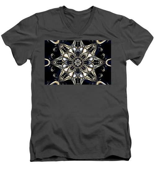 Blingo Men's V-Neck T-Shirt by Jim Pavelle