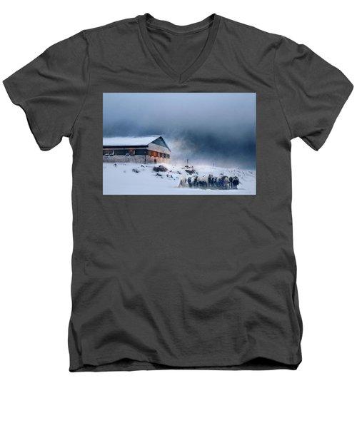 Blizzard Bliss Men's V-Neck T-Shirt