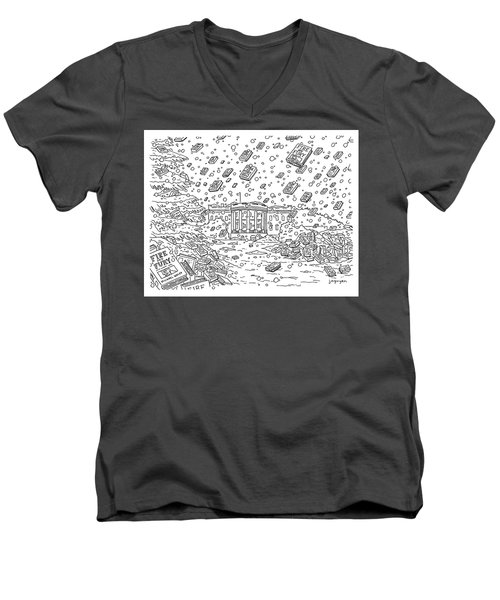 Blizzard Of Fire And Fury Men's V-Neck T-Shirt