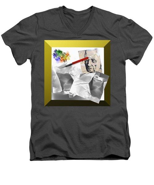 Block Men's V-Neck T-Shirt