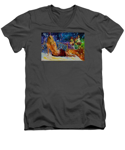 Blonde Beauty Men's V-Neck T-Shirt