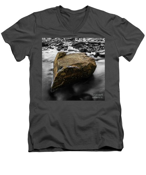 Men's V-Neck T-Shirt featuring the photograph Blonde Rock by Brian Jones