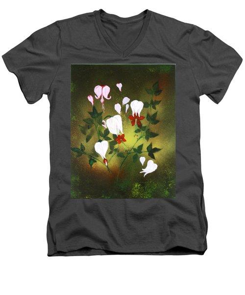 Blood Flower Men's V-Neck T-Shirt by Tbone Oliver