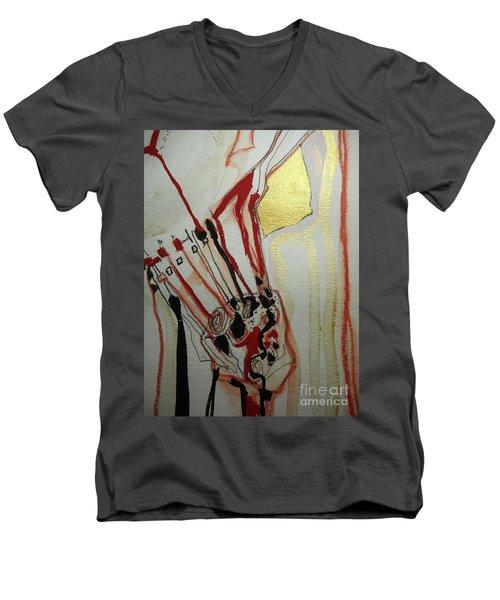Blood Flowers Men's V-Neck T-Shirt