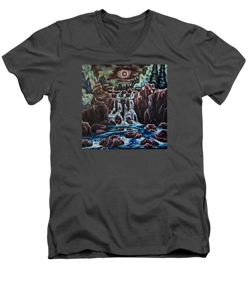 Blood Moon Rising Men's V-Neck T-Shirt