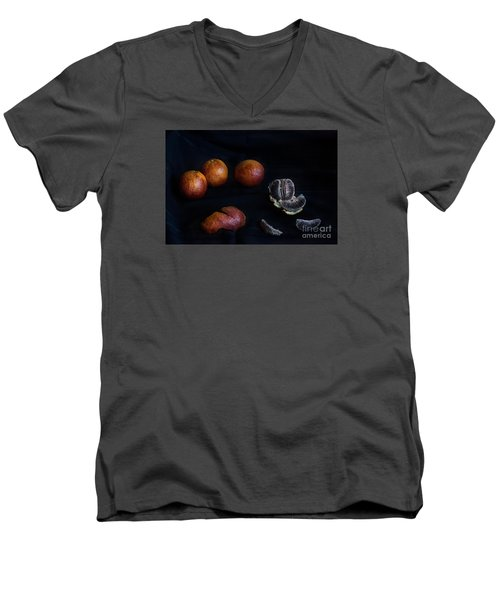 Men's V-Neck T-Shirt featuring the photograph Blood Orange Symphony by William Fields