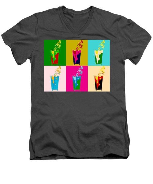 Bloody Mary Pop Art Panels Men's V-Neck T-Shirt