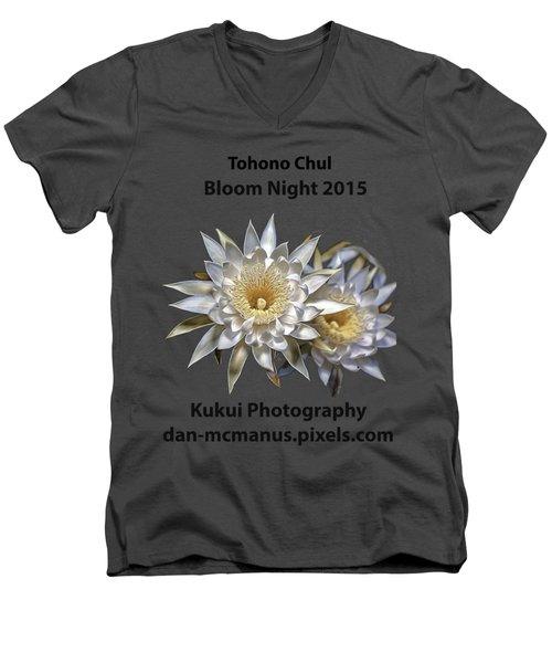 Men's V-Neck T-Shirt featuring the photograph Bloom Night T Shirt by Dan McManus