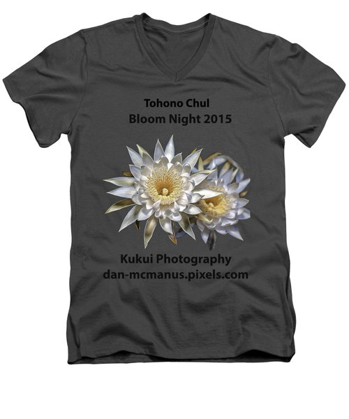 Bloom Night T Shirt Men's V-Neck T-Shirt
