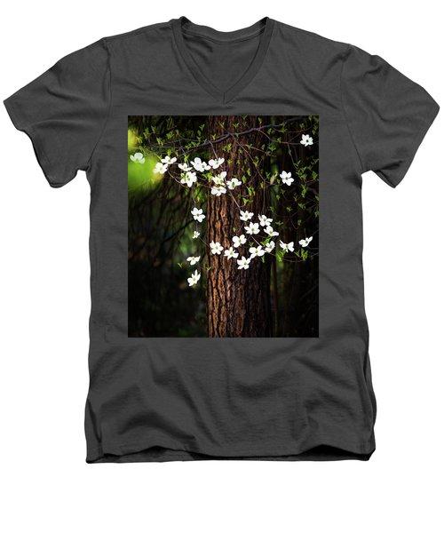 Blooming Dogwoods In Yosemite Men's V-Neck T-Shirt