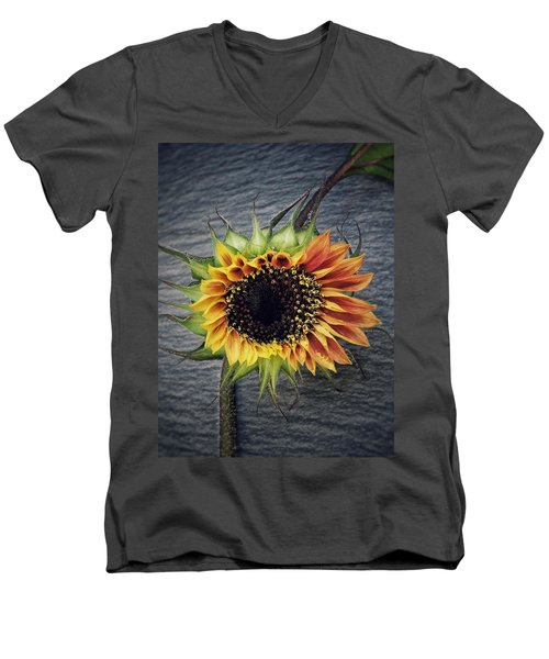 Men's V-Neck T-Shirt featuring the photograph Blooming by Karen Stahlros