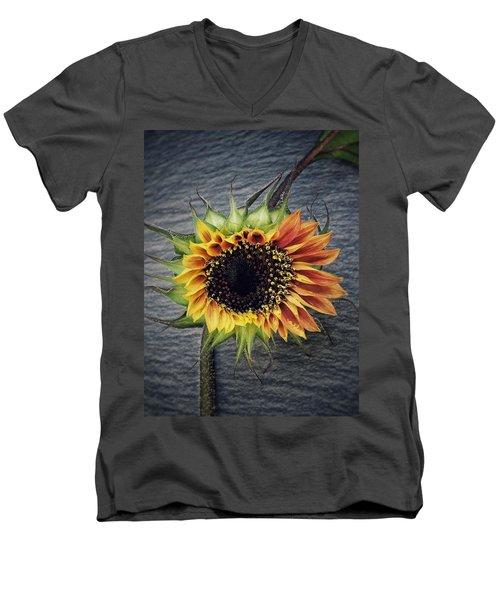 Blooming Men's V-Neck T-Shirt by Karen Stahlros