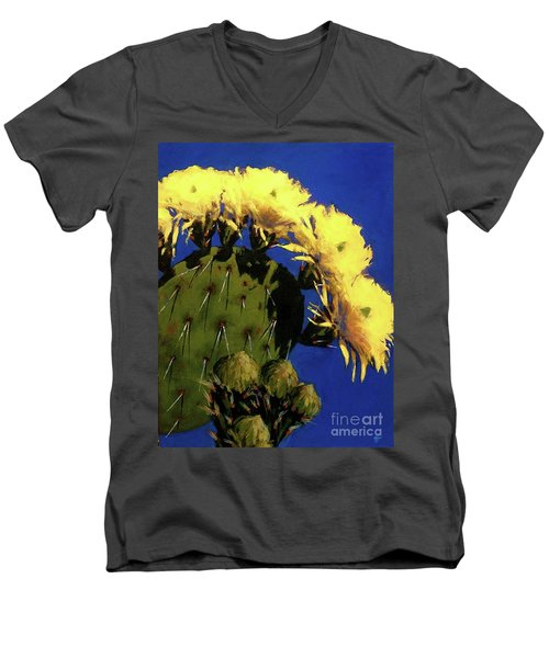Blooming Prickly Pear Men's V-Neck T-Shirt