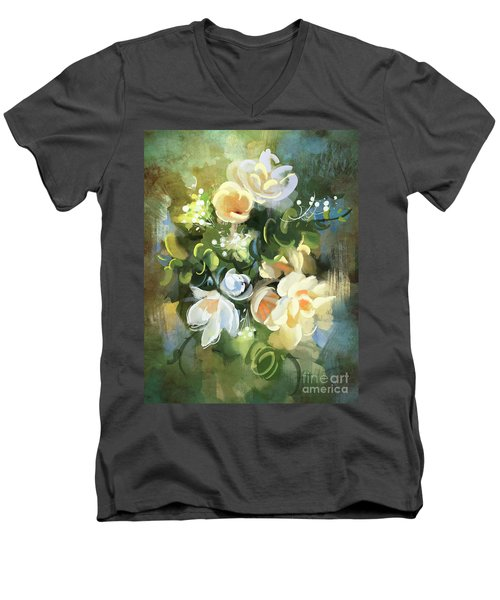 Blooming Men's V-Neck T-Shirt