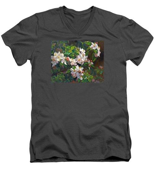 Blossom Of My Heart Men's V-Neck T-Shirt by Svitozar Nenyuk
