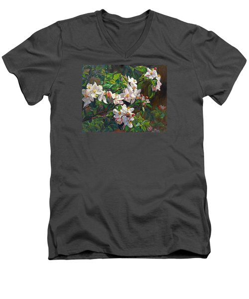 Blossom Of My Heart Men's V-Neck T-Shirt
