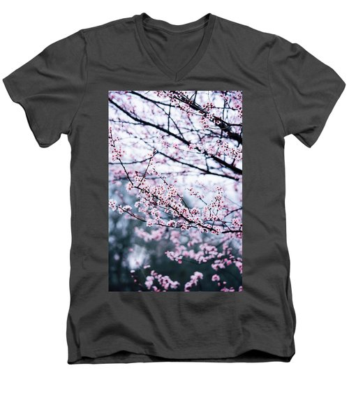 Men's V-Neck T-Shirt featuring the photograph Blossoming Buds by Parker Cunningham
