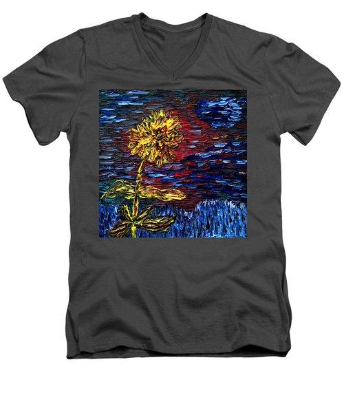 Blossoming Soul Men's V-Neck T-Shirt by Vadim Levin