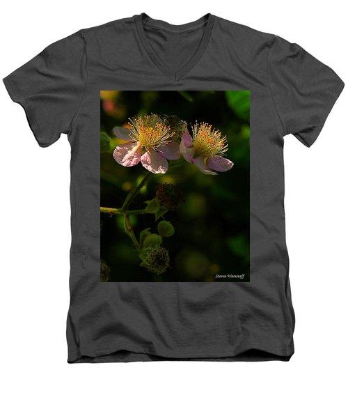 Blossoms 3 Men's V-Neck T-Shirt by Steve Warnstaff