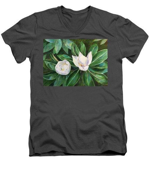 Blossoms In The Sunlight Men's V-Neck T-Shirt