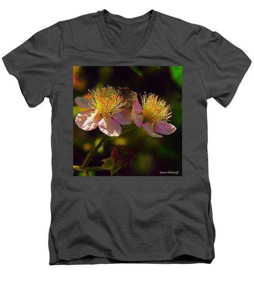 Blossoms.1 Men's V-Neck T-Shirt by Steve Warnstaff