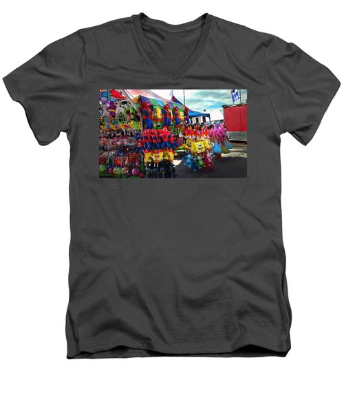 Men's V-Neck T-Shirt featuring the photograph Blowed Up by Steve Sperry