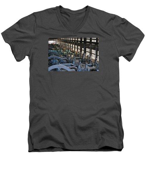 Blower Building Men's V-Neck T-Shirt