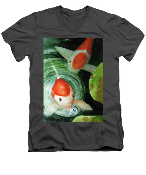 Blowing Bubbles Men's V-Neck T-Shirt