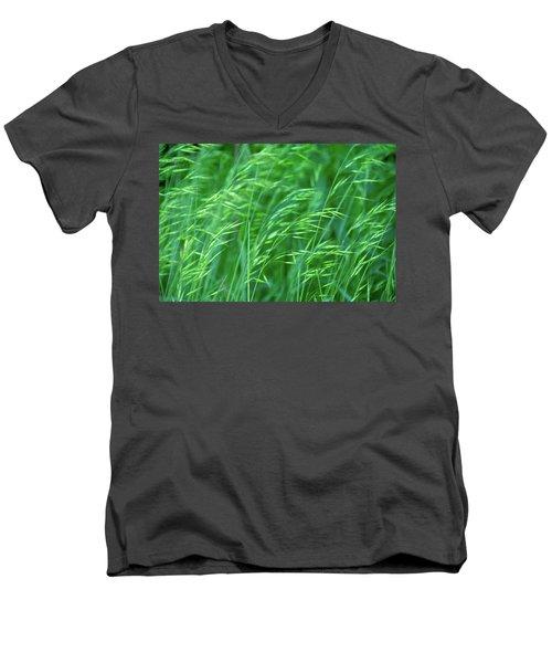 Blowing Green Men's V-Neck T-Shirt