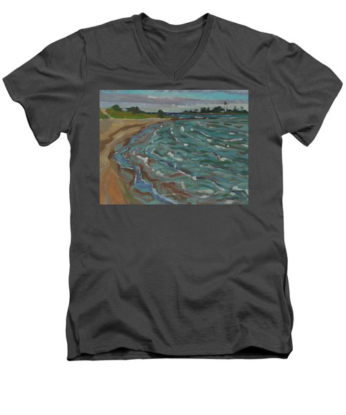 Blown Away Southampton Beach Men's V-Neck T-Shirt