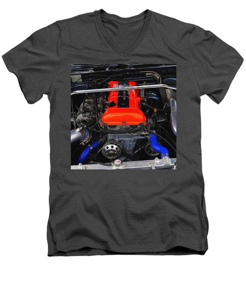 Blown Nissan Men's V-Neck T-Shirt