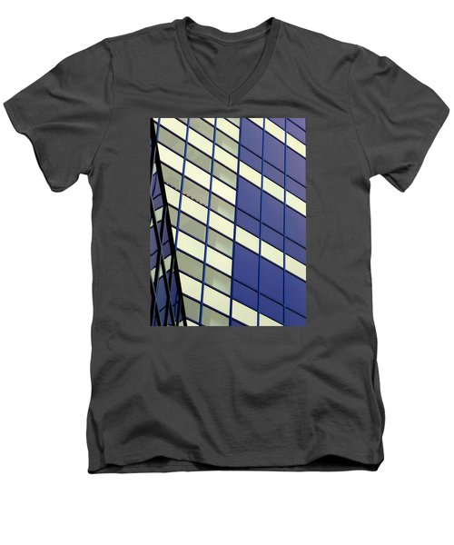 Blue 1114 Men's V-Neck T-Shirt