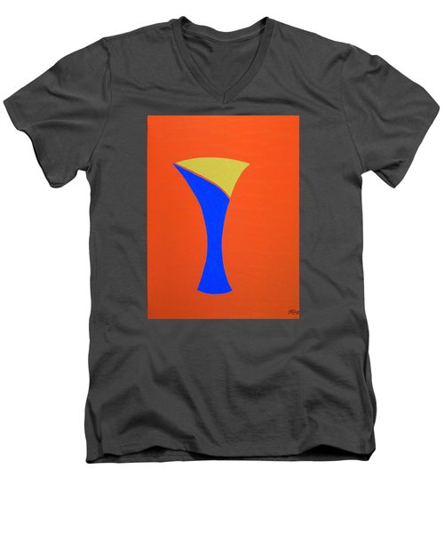 Blue 22 Men's V-Neck T-Shirt by Bill OConnor