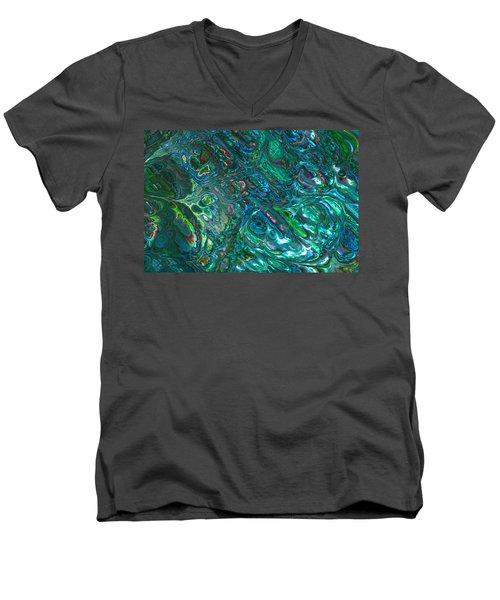 Blue Abalone Abstract Men's V-Neck T-Shirt