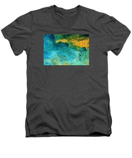 Blue Abstract #5 Men's V-Neck T-Shirt