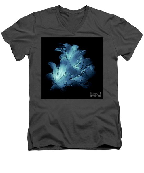 Blue Abstract No. 1 Men's V-Neck T-Shirt