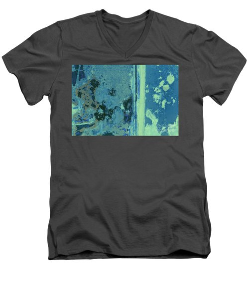 Blue Abstraction Men's V-Neck T-Shirt