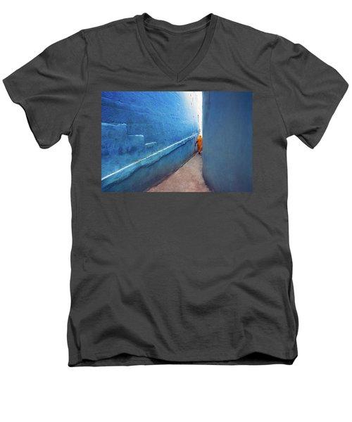 Blue Alleyway Men's V-Neck T-Shirt