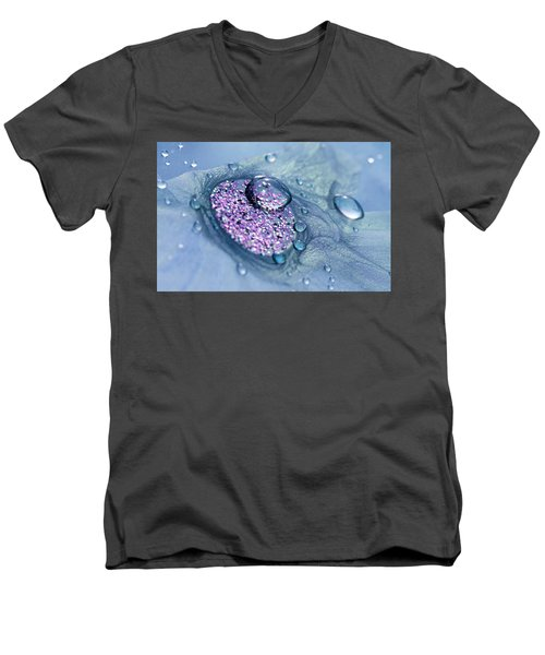 Blue And Purple Abstract Men's V-Neck T-Shirt