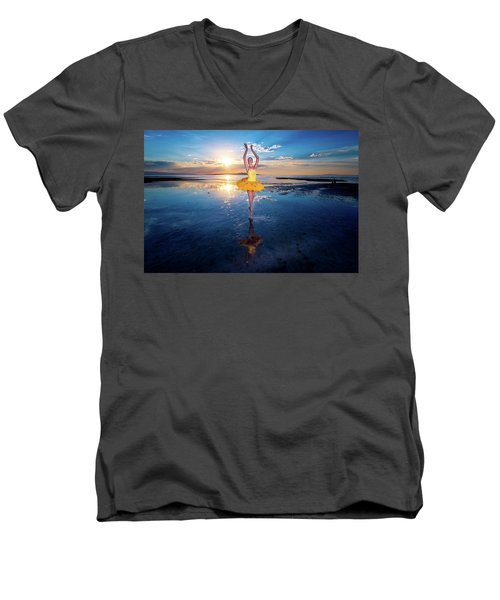 Blue And Yellow 2 Men's V-Neck T-Shirt